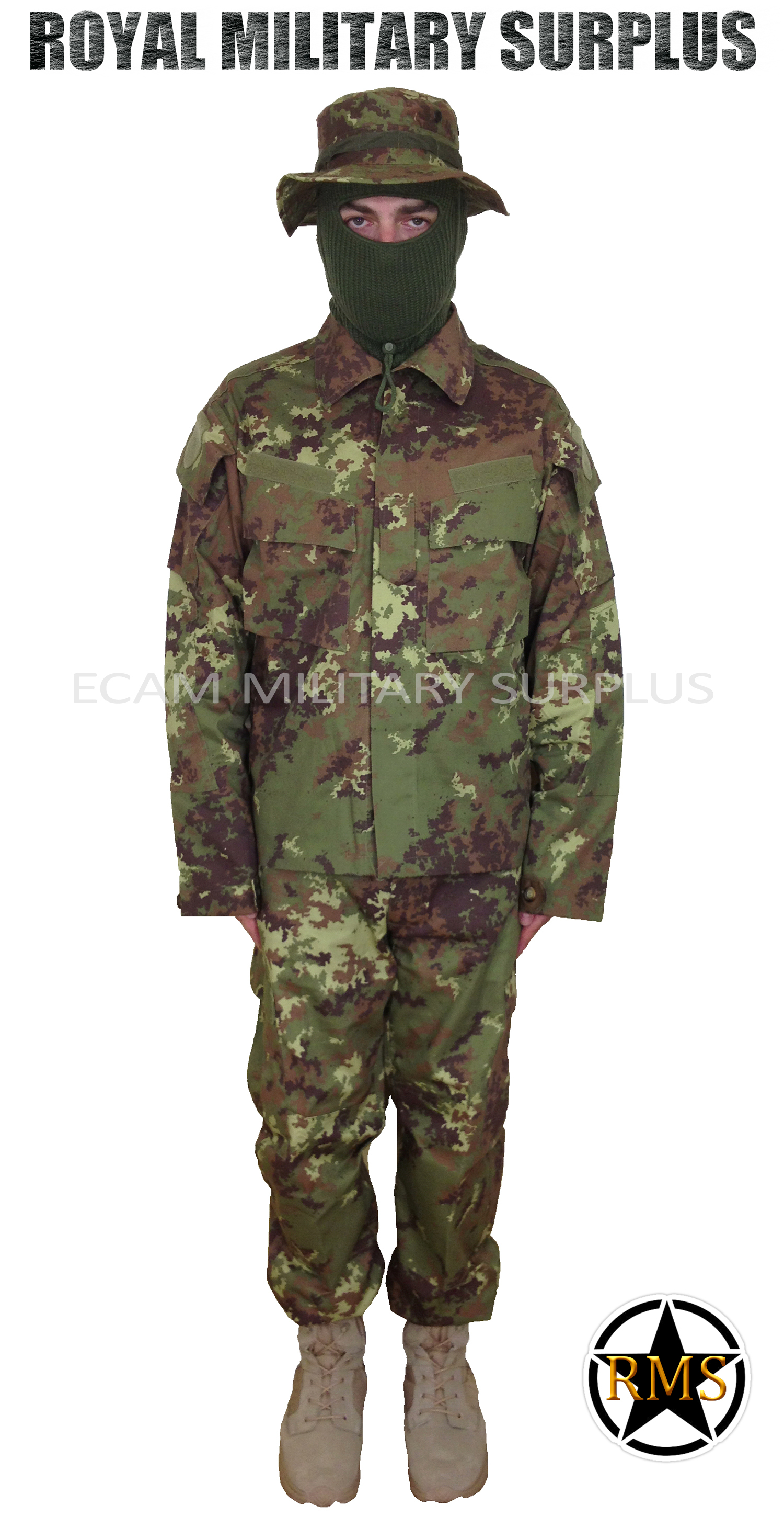 11c8f27da7393 Trooper Kit | VEGETATO (Woodland) Camouflage | Italy Military Tactical  Uniform